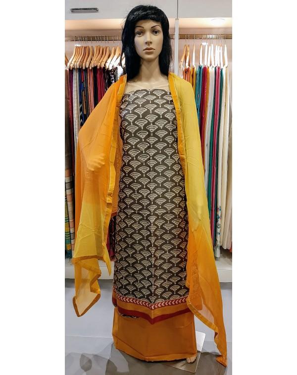 Chanderi silk salwar set