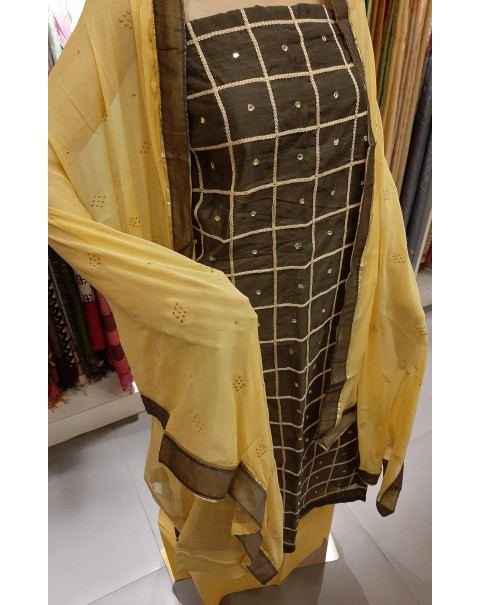 Chanderi silk salwar top