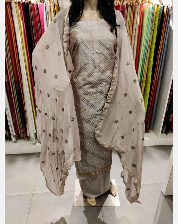 Chanderi silk salwar set.