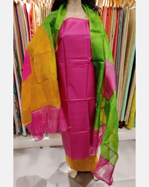 Magenta Tussar silk set
