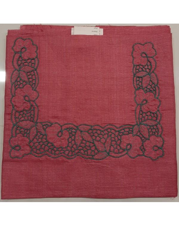 Twine cutwork on tussar silk salwar top
