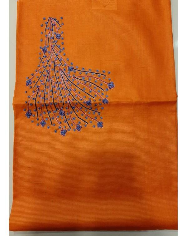 Handworked  tussar silk tops