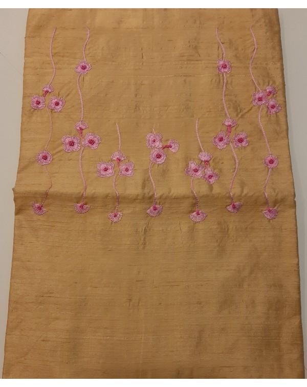 Handworked raw silk top