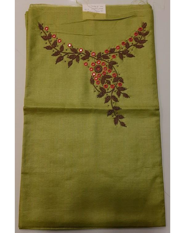 Handworked tussar silk top