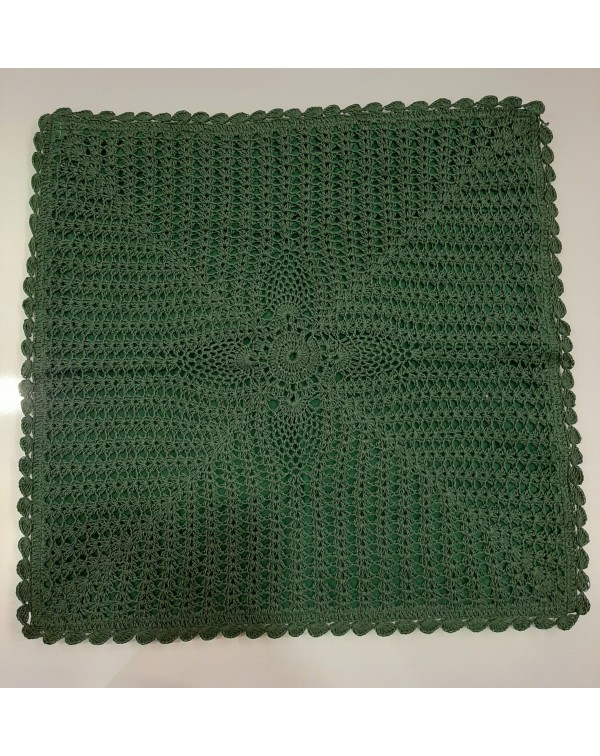 Crochet cushion cover green 16x16 type A
