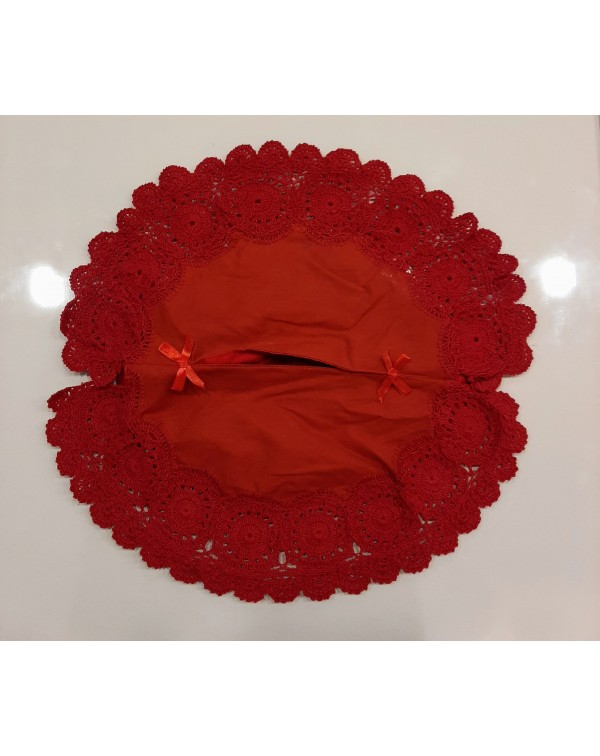 Crochet Tissue Box Cover Red