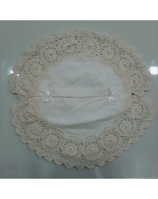 Crochet Tissue Box Cover White