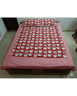 Christmas theme Queen size bed spread