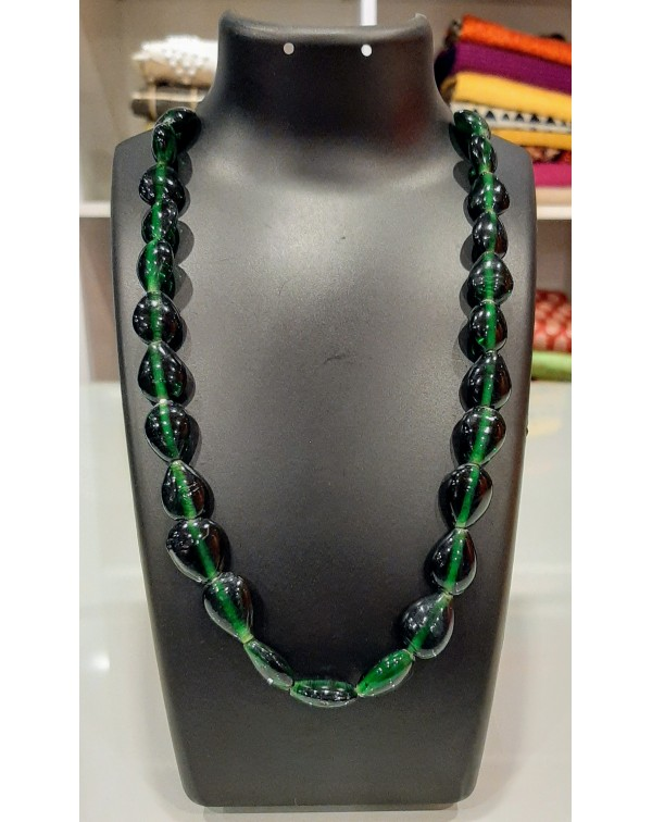 Marble Stone Necklace Bottle Green