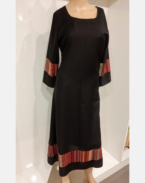 Black spun cotton kurthi large