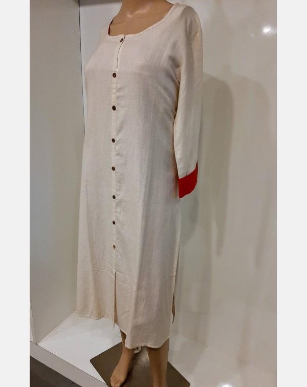 Off white cotton kurthi XL