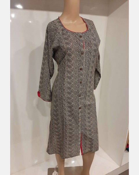 Zig Zag printed cotton kurthi XL