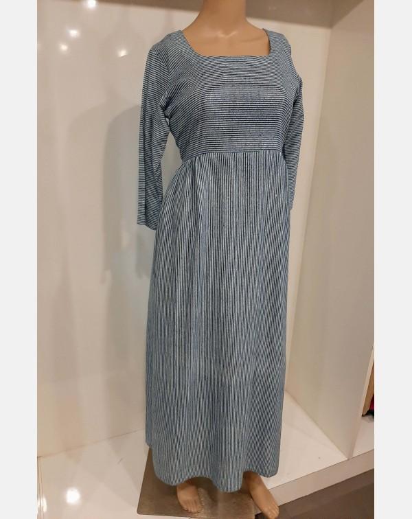 Off white & blue stripped cotton kurthi XL