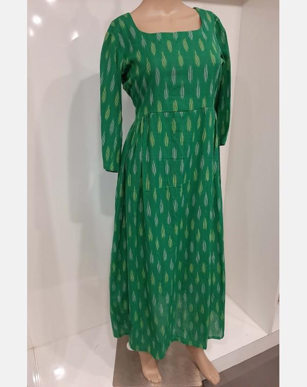 Green cotton Ikath cotton kurthi XL