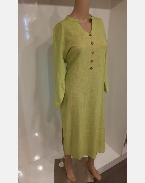 Lime green cotton kurthi - XXL