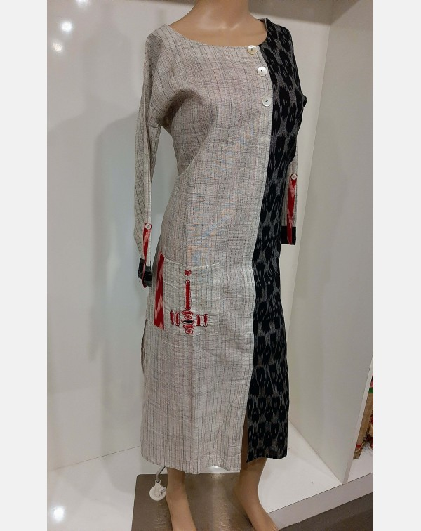 Two tune cotton kurthi - XXL