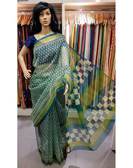 Block Printed kota saree (without blouse)