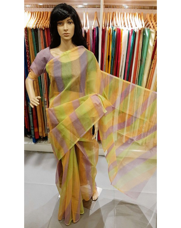 Multi colour kota saree.