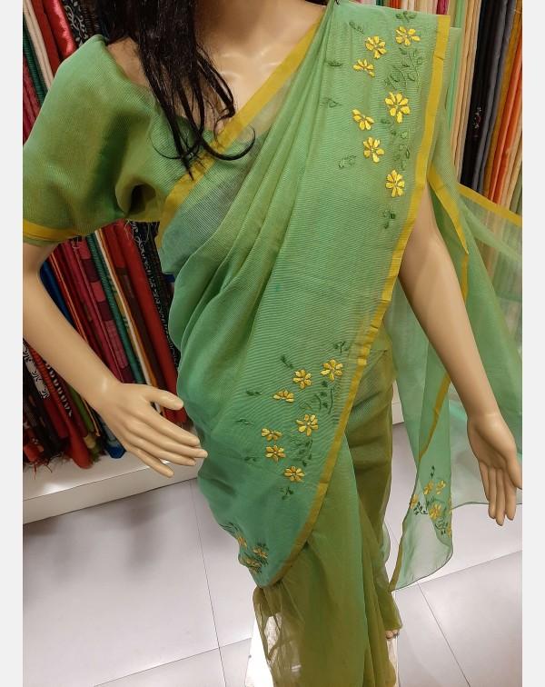 Handworked kota saree