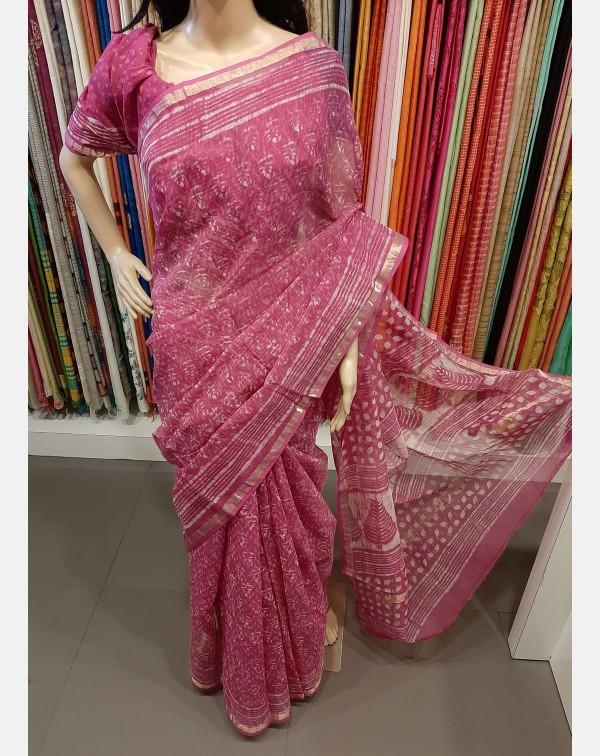 Block printed Kota saree