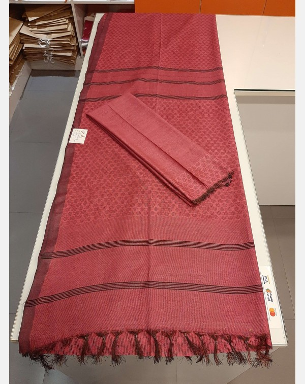 Semi tussar silk saree.
