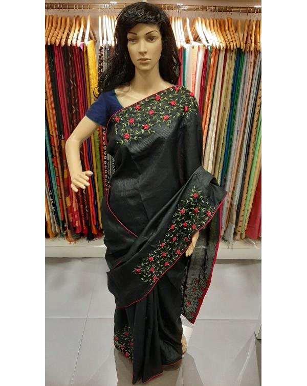 Handworked tussar silk saree