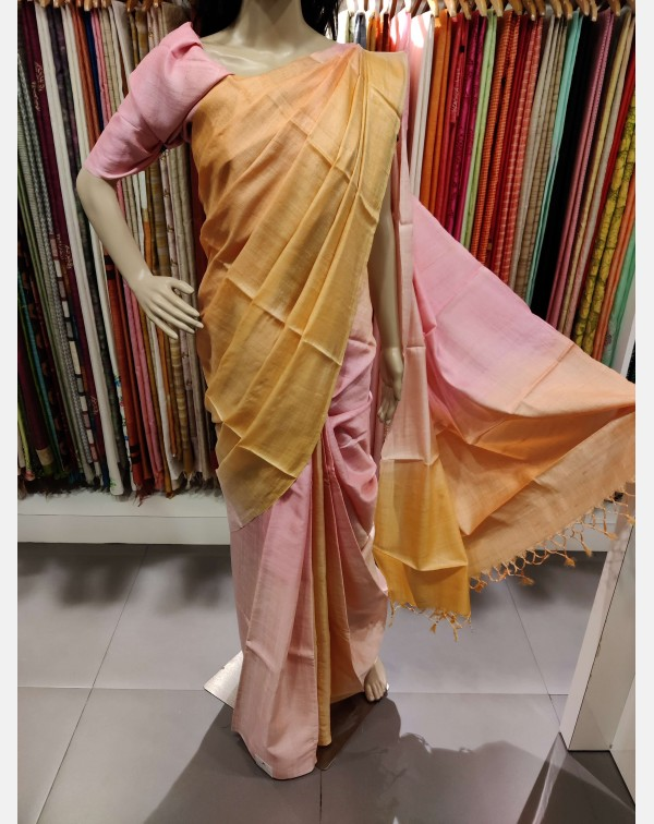 4D Tussar silk saree
