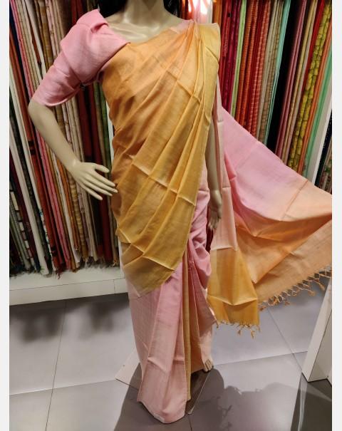 4D Tussar silk saree