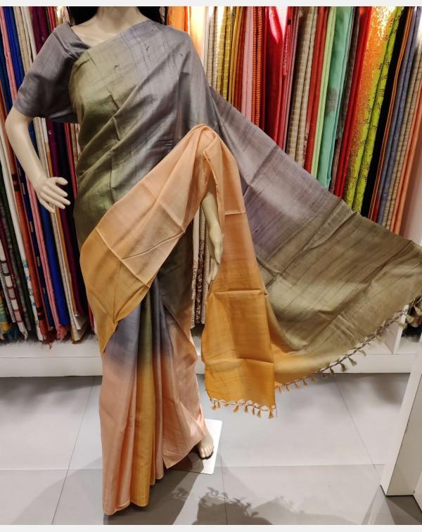 4d Tussar silk saree.