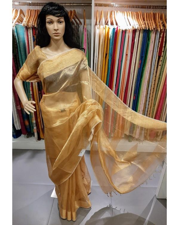 Gold tissue saree